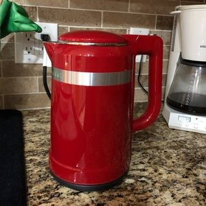 Red Empire Electric Kettle. Only used a few times.